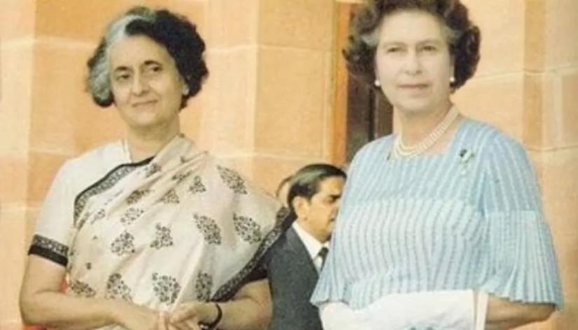 Damen som gjorde sin klädsel till ett statement, IndiraGandhi