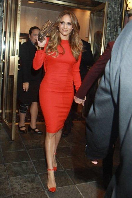 Jennifer Lopez röd
